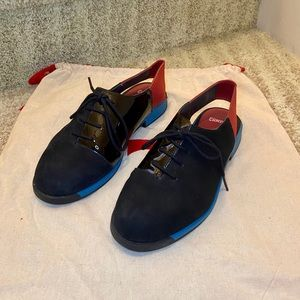 "Camper ""Bowie"" Shoes Suede and Patent Leather"